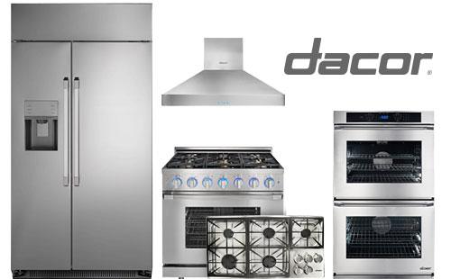 dacor, renaissance, wall oven, wall hood, cooktop, rangetop, refrigerator,