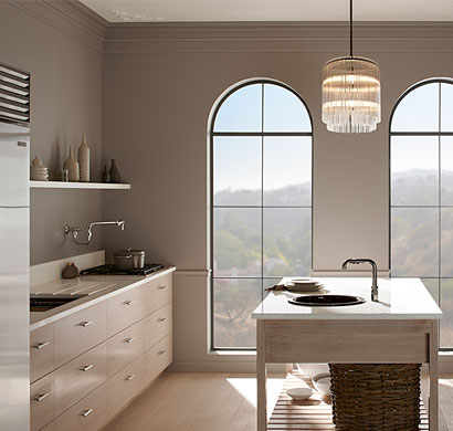 soft focus kitchen design, kohler, pacific sales