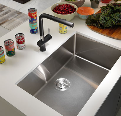 stainless steel sink, frank, kitchen product, pacific sales