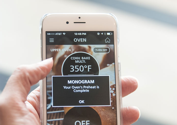 monogram, app, connecte appliances, refrigerator, ranges, dishwashers,